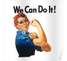 watercoloue we can Rosie the Riveter Poster