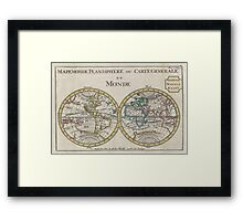 Vintage Map of The World (1706) Framed Print