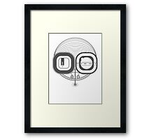 Robot Head Framed Print