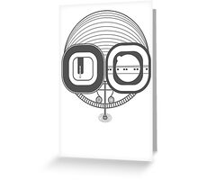Robot Head Greeting Card