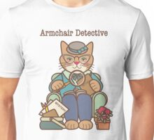 Armchair Detective, Cat, Woman Unisex T-Shirt