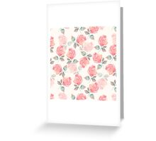 Hand-drawn beautiful roses. Seamless watercolor pattern Greeting Card