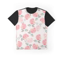 Hand-drawn beautiful roses. Seamless watercolor pattern Graphic T-Shirt