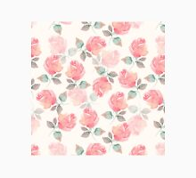 Hand-drawn beautiful roses. Seamless watercolor pattern Classic T-Shirt