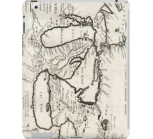 Vintage Map of The Great Lakes (1744) iPad Case/Skin