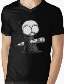 Murdered by illustrator Mens V-Neck T-Shirt