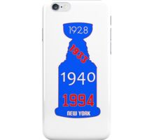 New York Rangers Stanley Cup Years iPhone Case/Skin