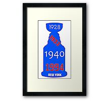 New York Rangers Stanley Cup Years Framed Print