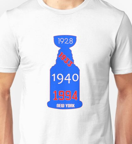 New York Rangers Stanley Cup Years Unisex T-Shirt