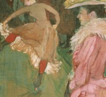 Henri de Toulouse-Lautrec  - At the Moulin Rouge The Dance (1890)Woman Portrait Fashion Sticker