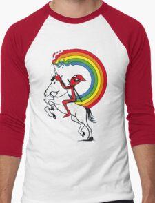 I like masturbat**g Men's Baseball ¾ T-Shirt
