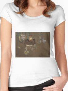 Henri de Toulouse-Lautrec  - At the Table of Monsieur and Madame Natanson (1898) Women's Fitted Scoop T-Shirt