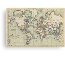Vintage Map of The World (1766) Canvas Print