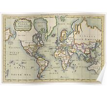 Vintage Map of The World (1766) Poster