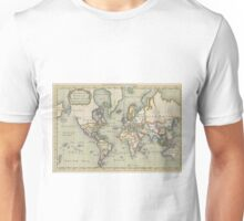 Vintage Map of The World (1766) Unisex T-Shirt