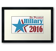 2016 election vote for Hillary Clinton Framed Print