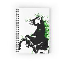 Evil horse Spiral Notebook