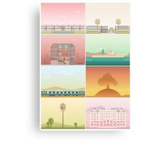 The Films of Wes Anderson Canvas Print