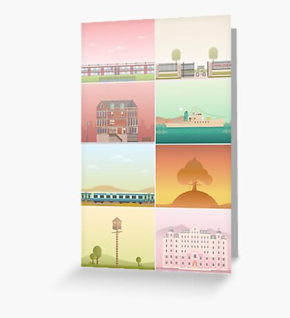 The Films of Wes Anderson Greeting Card