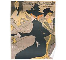 Henri de Toulouse-Lautrec  - Divan Japonais (1892 - 1893) Poster