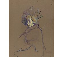 Henri de Toulouse-Lautrec  - Jane Avril (1892)Woman Portrait Fashion Photographic Print
