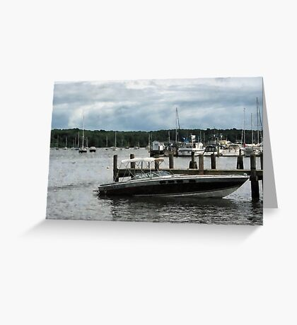 Stormy Day At The Harbor Essex CT Greeting Card