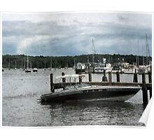 Stormy Day At The Harbor Essex CT Poster