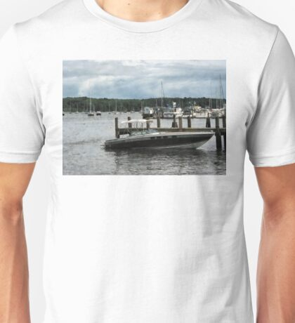 Stormy Day At The Harbor Essex CT Unisex T-Shirt