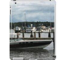 Stormy Day At The Harbor Essex CT iPad Case/Skin