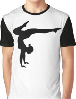 B&W Contortionist Graphic T-Shirt