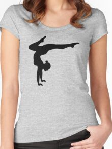 B&W Contortionist Women's Fitted Scoop T-Shirt