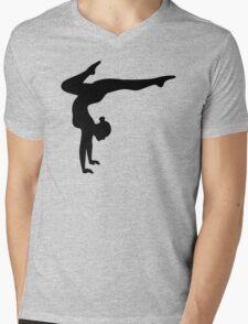 B&W Contortionist Mens V-Neck T-Shirt