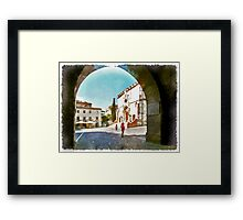 Teramo: arche and cathedral Framed Print