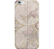 Vintage Map of The World (1782) iPhone Case/Skin