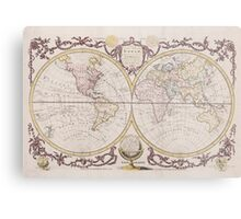 Vintage Map of The World (1782) Metal Print