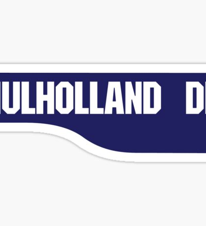 Mulholland Drive, Old-Style Street Sign, Los Angeles, California Sticker