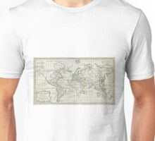 Vintage Map of The World (1784) Unisex T-Shirt