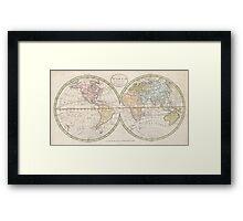 Vintage Map of The World (1798) Framed Print