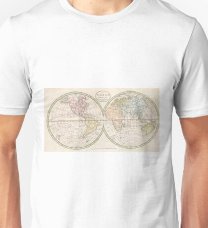 Vintage Map of The World (1798) Unisex T-Shirt