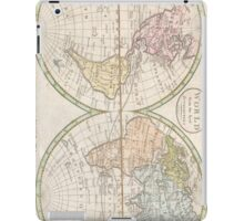 Vintage Map of The World (1798) iPad Case/Skin