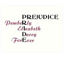 KRW Pride and Prejudice Forever Art Print