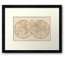 Vintage Map of The World (1799) 3 Framed Print