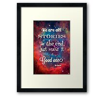 Doctor who quote Framed Print