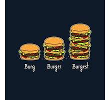 Burger explained 2: Burg. Burger. Burgest Photographic Print