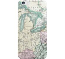 Vintage Map of The Great Lakes & Midwest (1801) iPhone Case/Skin