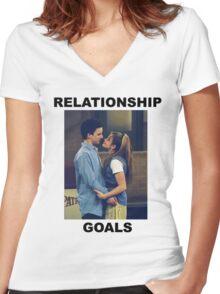 Boy Meets World Relationship Goals Women's Fitted V-Neck T-Shirt