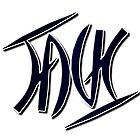 """Jack"" Ambigram (reversible image) by flatfrog00"