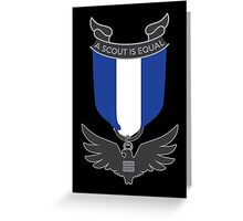 Scouts for Equality Eagle Medal Greeting Card