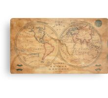 Vintage Map of The World (1833) 2 Metal Print
