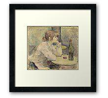 Henri de Toulouse-Lautrec  - The Hangover (Suzanne Valadon) (1887 - 1889)Woman Portrait Framed Print